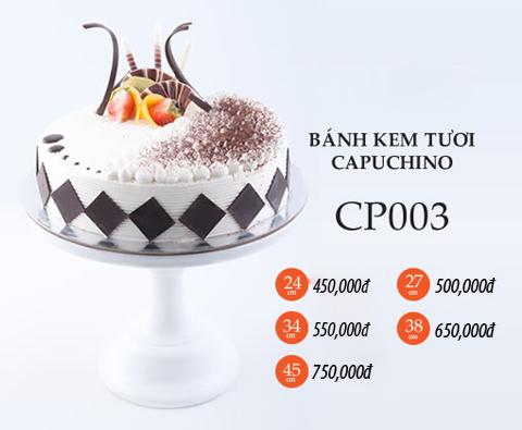 Bánh sinh nhật kem tươi capuchino CP003