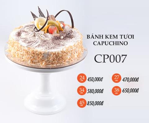 Bánh  sinh nhật kem tươi capuchno CP008