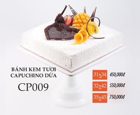 Bánh sinh nhật kem tươi capuchino CP009