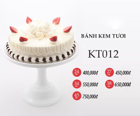 Bánh sinh nhật kem tươi KT012