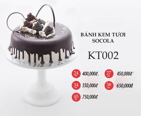 Bánh sinh nhật kem tươi socola KT002