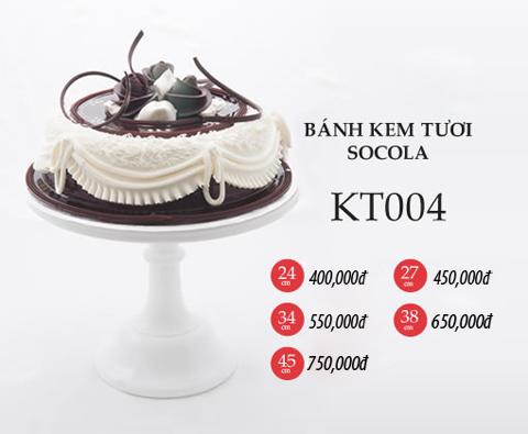 Bánh sinh nhật kem tươi socola KT004