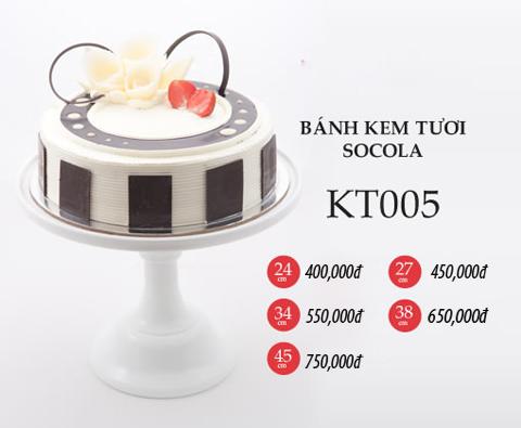 Bánh sinh nhật kem tươi socola KT005