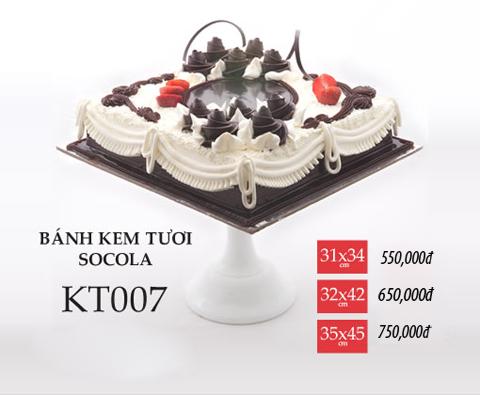 Bánh sinh nhật kem tươi socola KT007