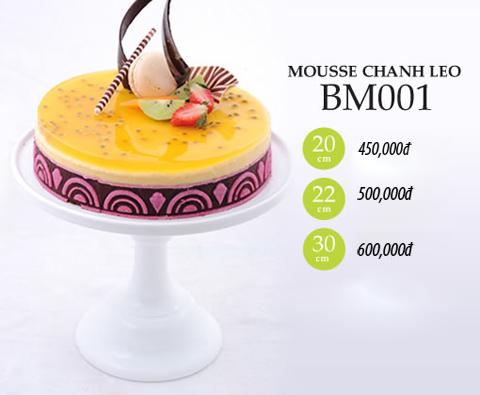 Bánh sinh nhật mousse chanh leo