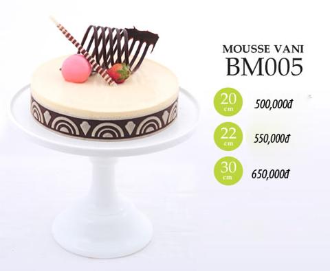 Bánh sinh nhật mousse vani