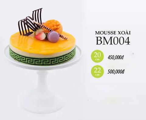 Bánh sinh nhật mousse xoài