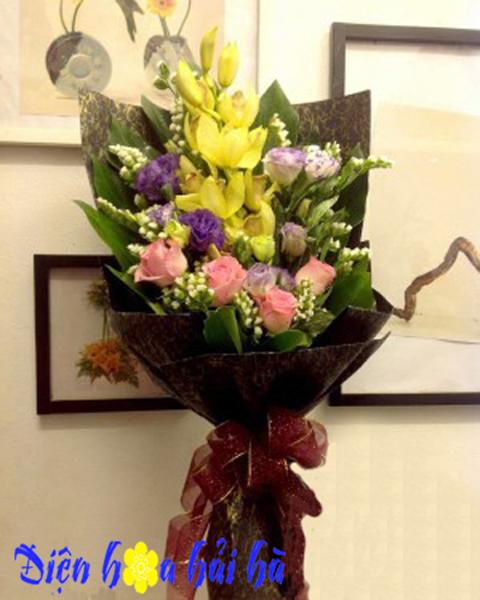 Bó hoa địa lan đẹp