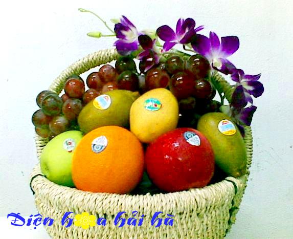 Mẫu giỏ hoa quả 8