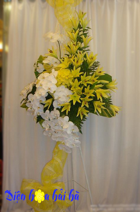 Lẵng hoa đẹp sang trọng