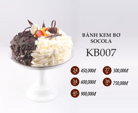 bánh sinh nhật kem bơ socola kb007