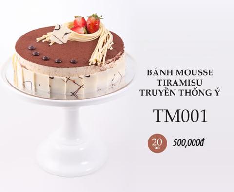 Bánh sinh nhật mousse tiramisu tm001