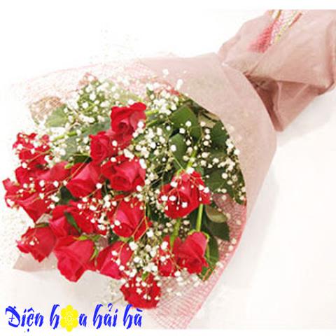 Bó hoa hồng đỏ baby