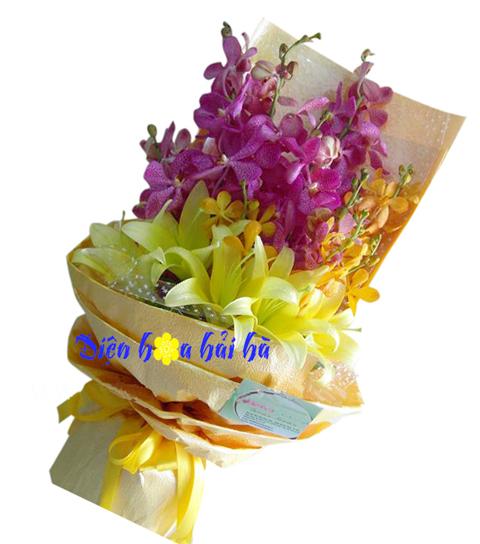 Bó hoa lan mocara đẹp