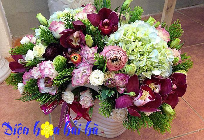 Bát hoa đẹp tặng bạn