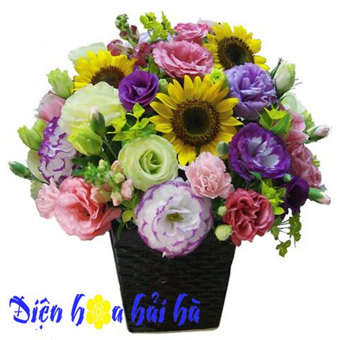 Bình hoa hướng dương đẹp