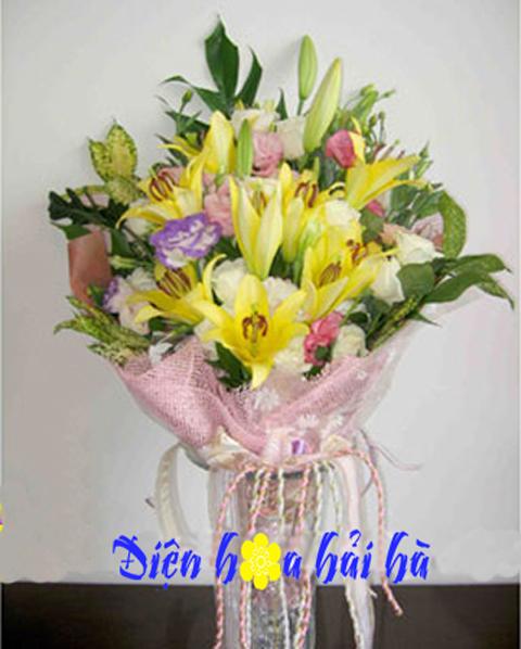 Bó hoa ly vàng đẹp