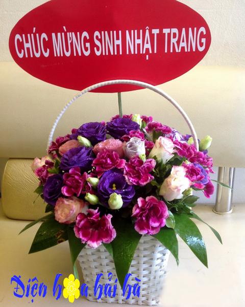 Giỏ hoa cẩm chướng
