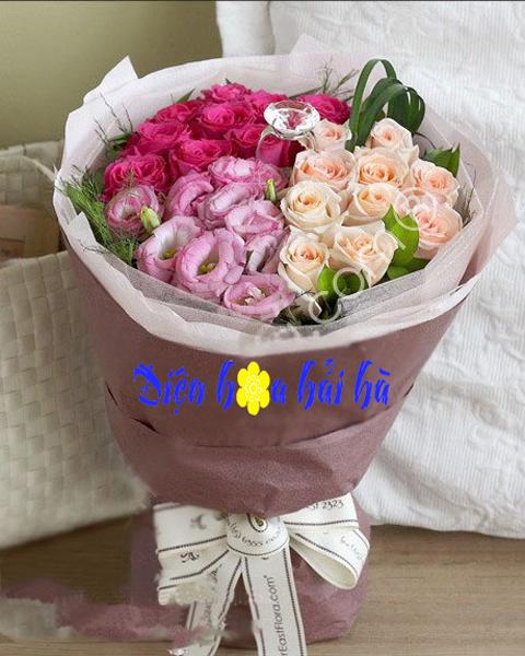Mẫu bó hoa hồng đẹp