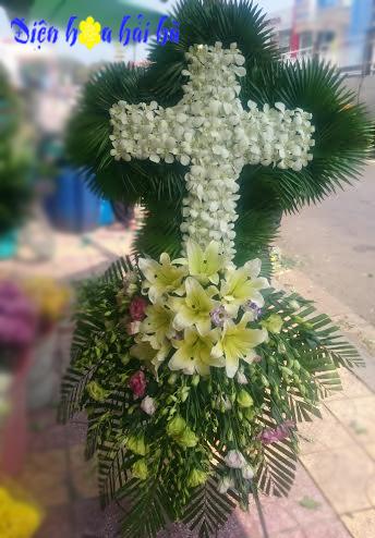 Hoa chia buồn hình thập giá