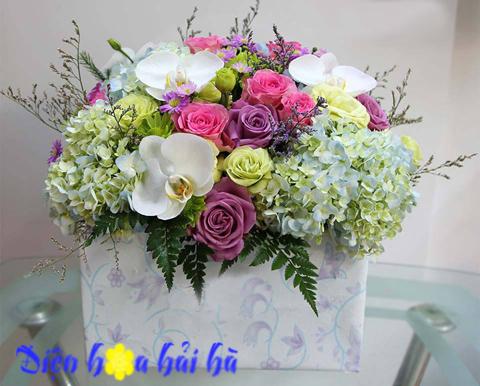 Giỏ hoa chúc mừng sinh nhật