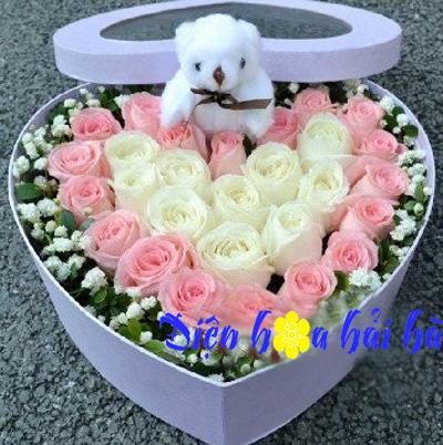 Hộp hoa hồng tình yêu