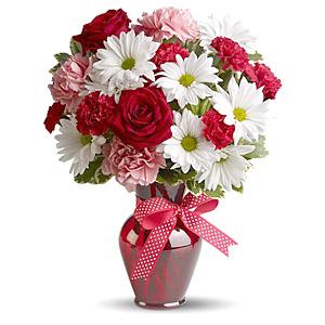 Bó hoa cầm tay bằng hoa cẩm chướng