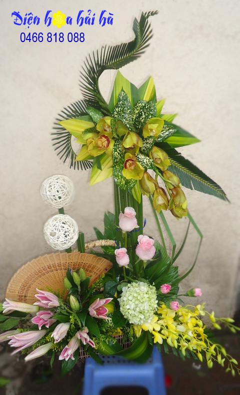Giỏ hoa đẹp Hà Nội