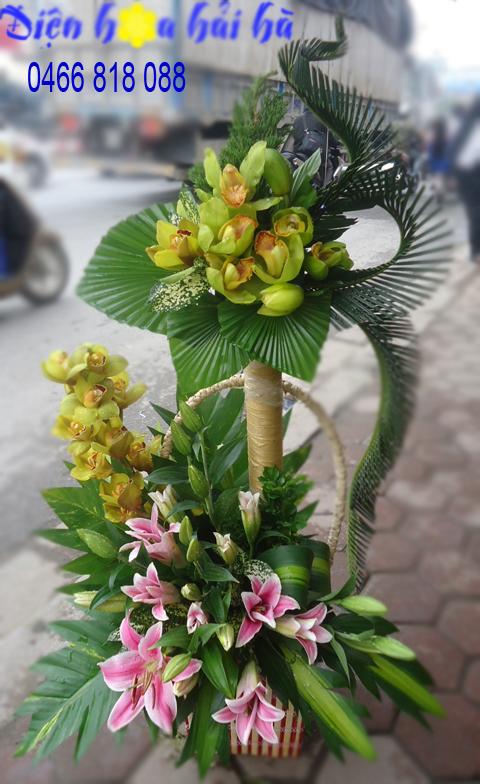 Giỏ hoa đẹp tặng sếp