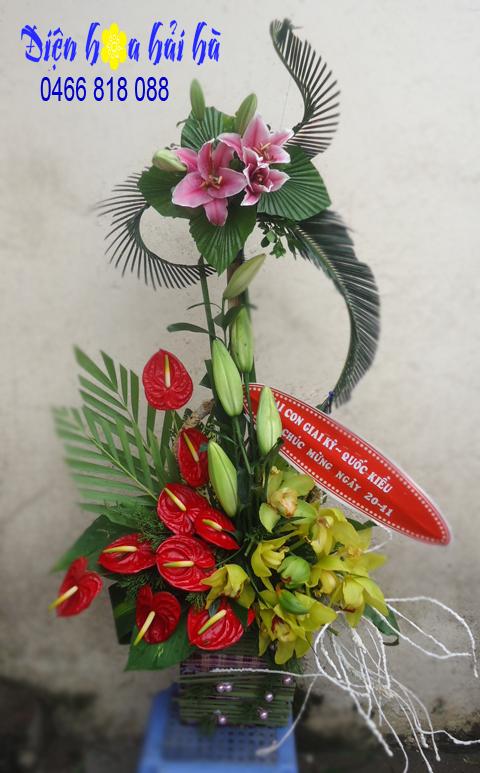 Giỏ hoa lan đẹp