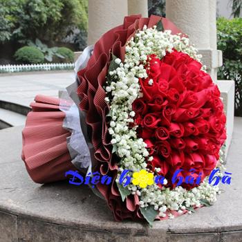 Bó hoa hồng đỏ Hoa đẹp