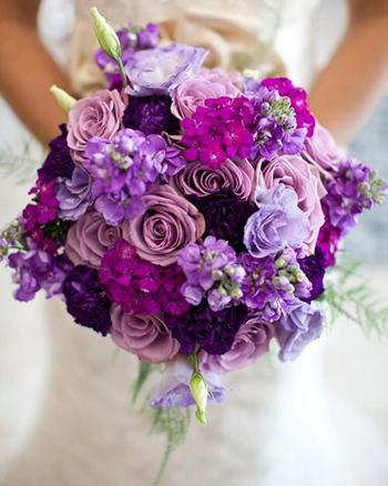 hoa cưới bằng hồng tím Shop hoa Hải Hà