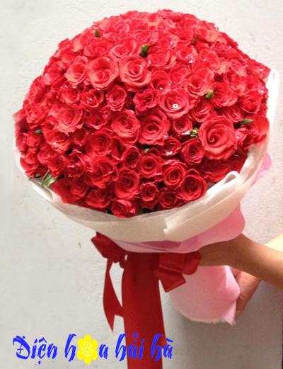 Bó hoa hồng đỏ đẹp Hoa kỷ niệm ngày cưới
