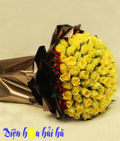 Bó hoa hồng vàng tặng bạn