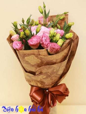 Bó hoa lan tường hồng Hoa tặng Mẹ