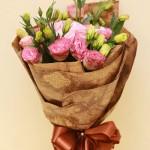 Bó hoa lan tường hồng