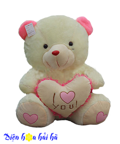 Gấu bông ôm tim