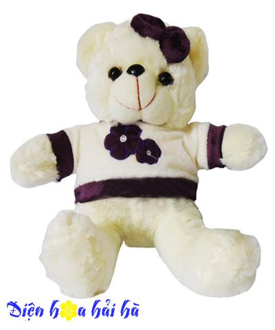 Gấu hoa tím
