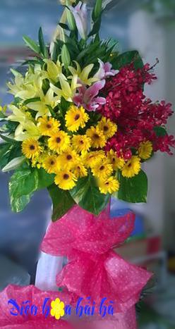 Lẵng hoa đẹp  hoa chúc mừng