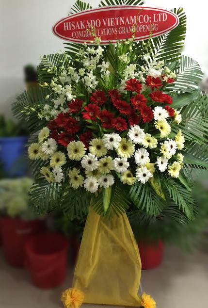 Lẵng hoa đẹp tặng khai trương