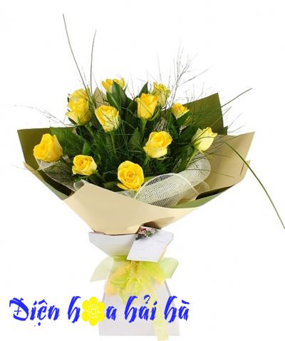 Bó hoa hồng vàng đẹp
