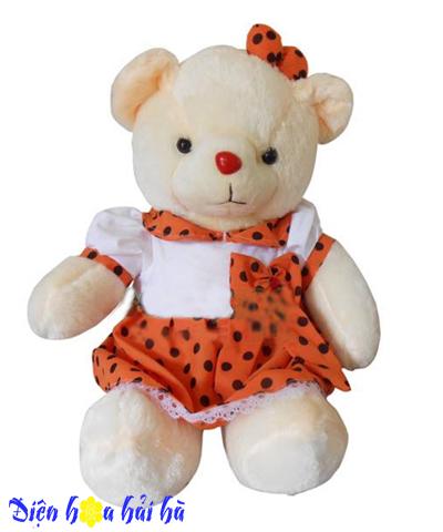 Gấu bông váy chấm bi