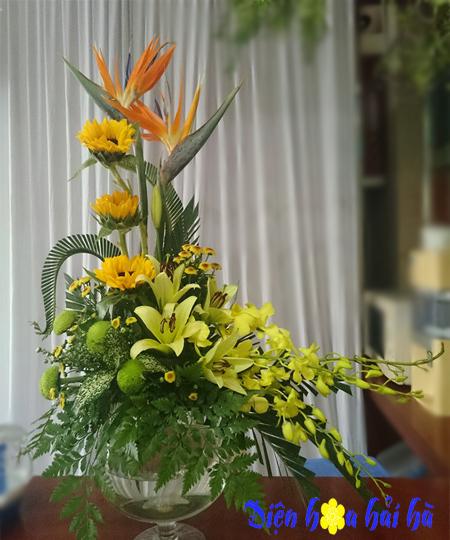 Bình hoa thiên điểu - hoa đẹp