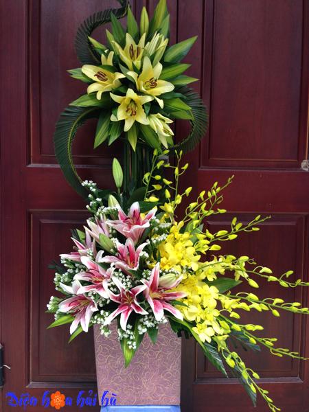 Giỏ hoa nghệ thuật tại Hà Nội
