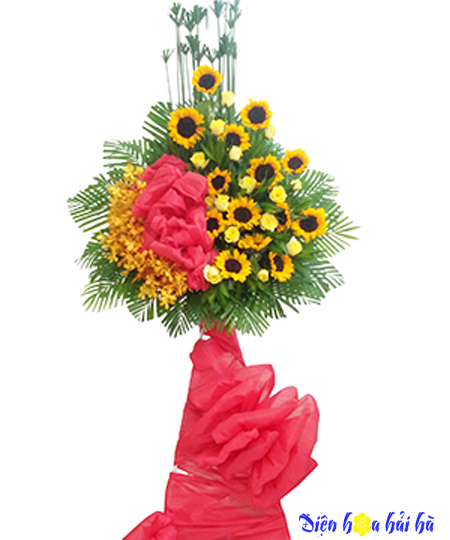 Điện hoa chúc mừng bằng hoa hướng dương