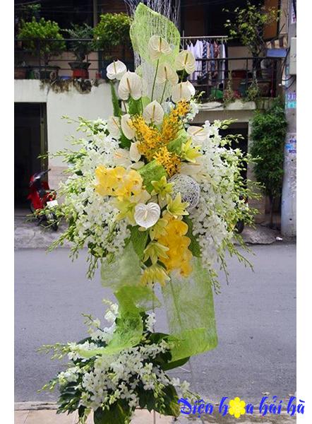 Hoa khai trương bằng hoa lan sang trọng
