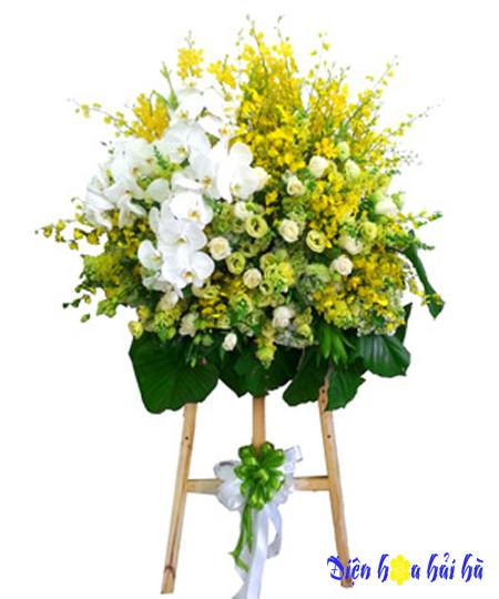 Lẵng hoa chúc mừng hoa lan vũ nữ sang trọng