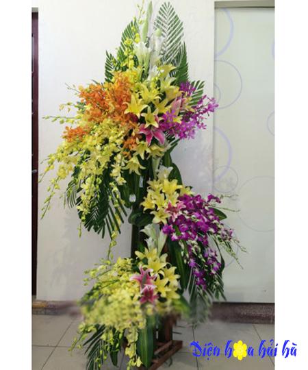 Lẵng hoa đẹp nhất bằng hoa lan ly