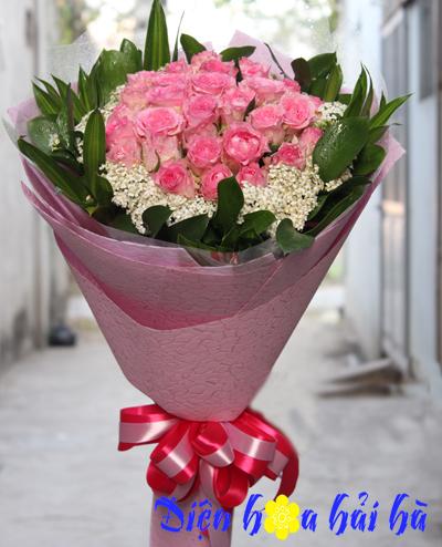 Bó hoa hồng phấn mimi