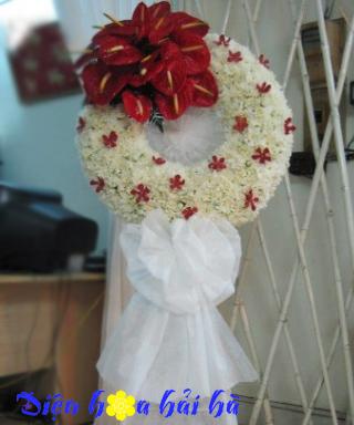 Hoa chia buồn cúc trắng hồng môn